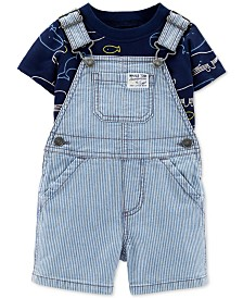 Carter's Baby Boys 2-Pc. Whale-Print T-Shirt & Shortall Set