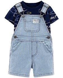 Carter's Baby Boys 2-Pc. Whale-Print T-Shirt & Shortall Set