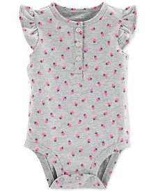 Carter's Baby Girls Rainbow-Print Cotton Bodysuit