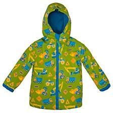 Little Boy Construction Print Raincoat