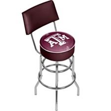 Texas A&M University Swivel Bar Stool with Back