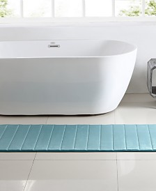 Bristol Blue Channel Stitch Memory Foam Bath Runner