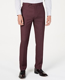 Calvin Klein Men's X-Fit Slim-Fit Berry Tic Dress Pants