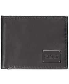 Men's Passcase Zipper Leather Wallet