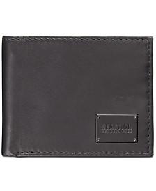 Kenneth Cole Reaction Men's Passcase Zipper Leather Wallet