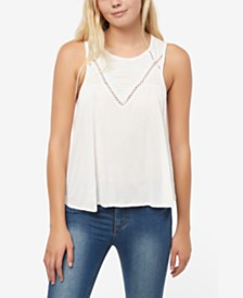O'Neill Juniors' Keko Lace-Inset Tank Top