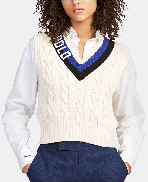 Lauren Vestamp; Polo Reviews Cotton Cricket Ralph Sweaters Women 1FJKcTl3