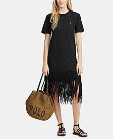 Polo Ralph Lauren Fringe Cotton Shirtdress