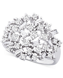 Wrapped in Love™ Diamond Scatter Cluster Ring (1 ct. t.w.) in 14k White Gold, Created for Macy's