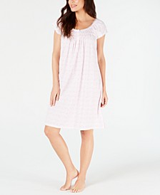 Printed Silky Knit Short Nightgown