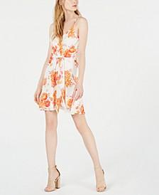 Floral Tie-Front A-Line Dress