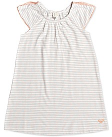 Little & Big Girls Striped Crochet-Trim Dress