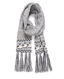 Muk Luks Women's Traditional Tassel Scarf