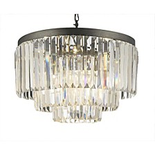 Palladium 9-Light Crystal Glass Fringe Chandelier