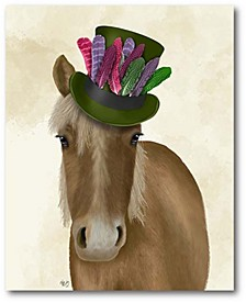 """Horse with Feather Hat Gallery-Wrapped Canvas Wall Art - 16"""" x 20"""""""