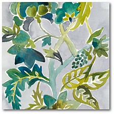 "Batik Vines II Gallery-Wrapped Canvas Wall Art - 16"" x 16"""