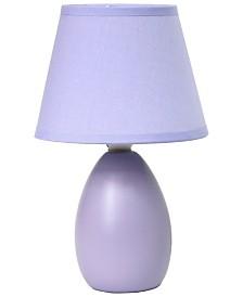 Simple Designs Mini Egg Oval Ceramic Table Lamp