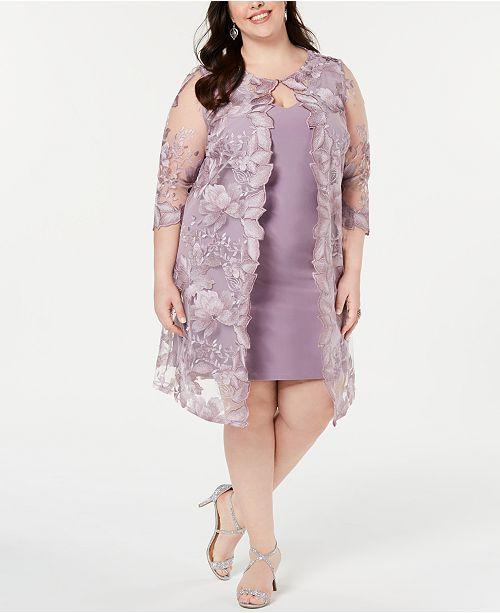 e6b6456c377 Alex Evenings Plus Size Embroidered Jacket   Sheath Dress   Reviews ...