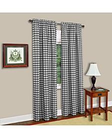 Buffalo Check Window Curtain Panel, 42x63