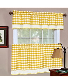 Buffalo Check Window Curtain Tier Pair, 58x36