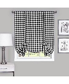 Buffalo Check Window Curtain Tie Up Shade, 42x63