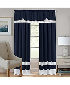 Darcy Rod Pocket Window Curtain Panel, 52x63