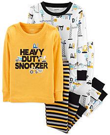 Carter's Toddler Boys 4-Pc. Construction Equipment Cotton Pajamas Set