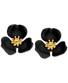 Zenzii Gold-Tone Painted Flower Stud Earrings