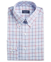 7d30815ce25 Club Room Men's Classic/Regular Fit Stretch Tattersall Dress Shirt, Created  for Macy's