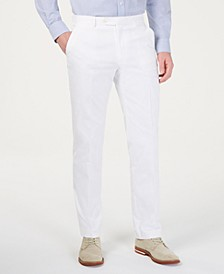 Men's Modern-Fit THFlex Stretch Solid White Suit Pants