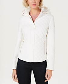 Calvin Klein Hooded Quilted Coat
