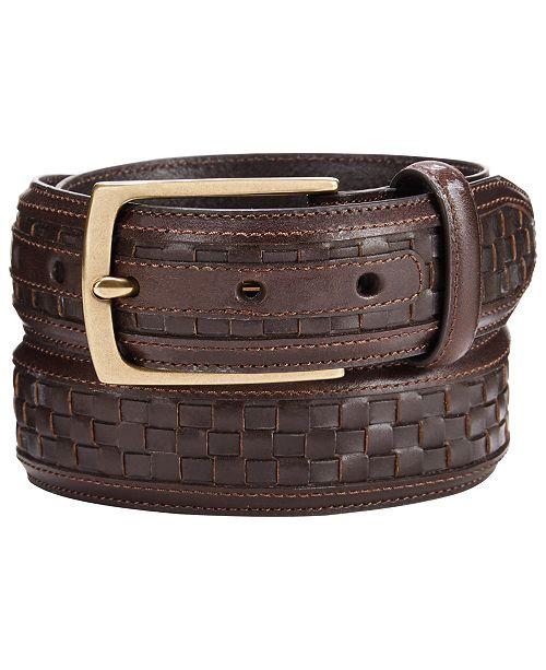 Tasso Elba Men's Woven Belt, Created for Macys