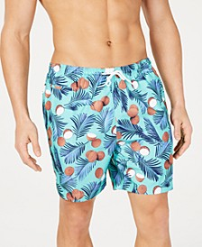 "Men's Coconut-Print 6"" Volley Swim Trunks, Created for Macy's"