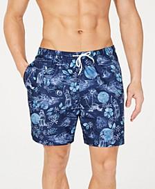 "Men's Splash Tropical-Print 6"" Volley Swim Trunks, Created for Macy's"