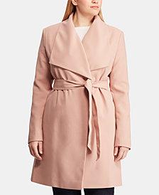 Lauren Ralph Lauren Plus Size Wrap Coat