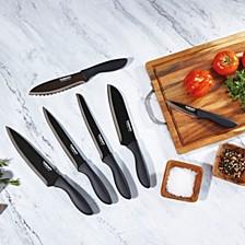 Advantage 12-Pc. Metallic Black Cutlery Set