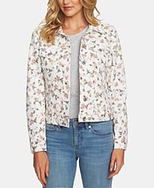 Floral-Print Trucker Jacket