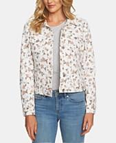 55cb78f4733c5 CeCe Floral-Print Trucker Jacket