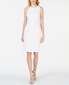 Calvin Klein Petite Lace-Trim Sheath Dress