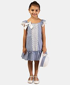 Bonnie Jean Toddler Girls 2-Pc. Clip-Dot Dress & Hat Set