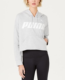 Puma Modern Sports Cotton Cropped Hoodie