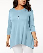 ba0c135dce Plus Size Dressy Tops  Shop Plus Size Dressy Tops - Macy s