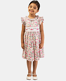 Bonnie Jean Toddler Girls Embroidered Smocked Waist Dress
