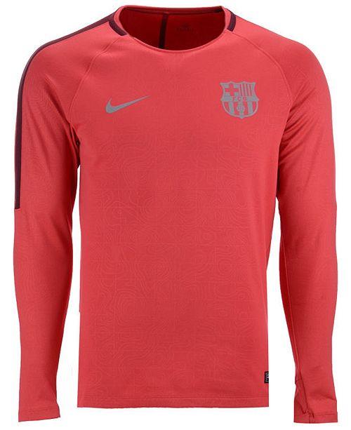 84f47867853 Nike Men s FC Barcelona Long Sleeve Squad T-Shirt   Reviews - Sports ...
