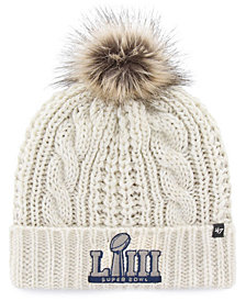 '47 Brand Women's Super Bowl LIII Meeko Cuff Pom Knit Hat