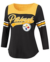 6a30323c8 G-III Sports Women s Pittsburgh Steelers Sleeve Stripe Raglan T-Shirt