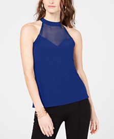 I.N.C. Illusion Halter-Neck Top, Created for Macy's