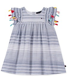 Little Girls Striped Cotton Dress