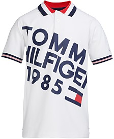 Tommy Hilfiger Little Boys Stretch Slanted Logo Piqué Polo
