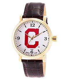 Gametime MLB Cleveland Indians Men's Shiny Gold Vintage Alloy Watch